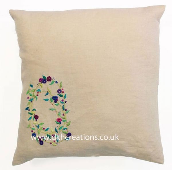 Meadow Sweet Sprig Spiral Embroidery Cushion Kit